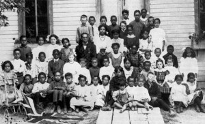 School children of the Elgin Settlement c. 1900s