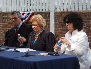 From left to right: Honorable Mitchell S. Goldberg; Honorable Cynthia M. Rufe; Linda A. Caracappa